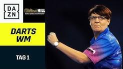 Lisa Ashton nimmt es mit den Männern auf - auch Martin Schindler im Einsatz | Darts WM | Tag1 | DAZN