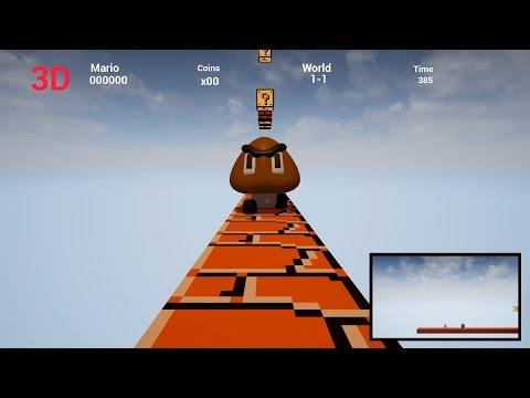 3D First Person Super Mario Bros (Unreal Engine 4)