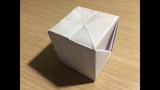 Как сделать кубик из бумаги А4 оригами своими руками без клея видео