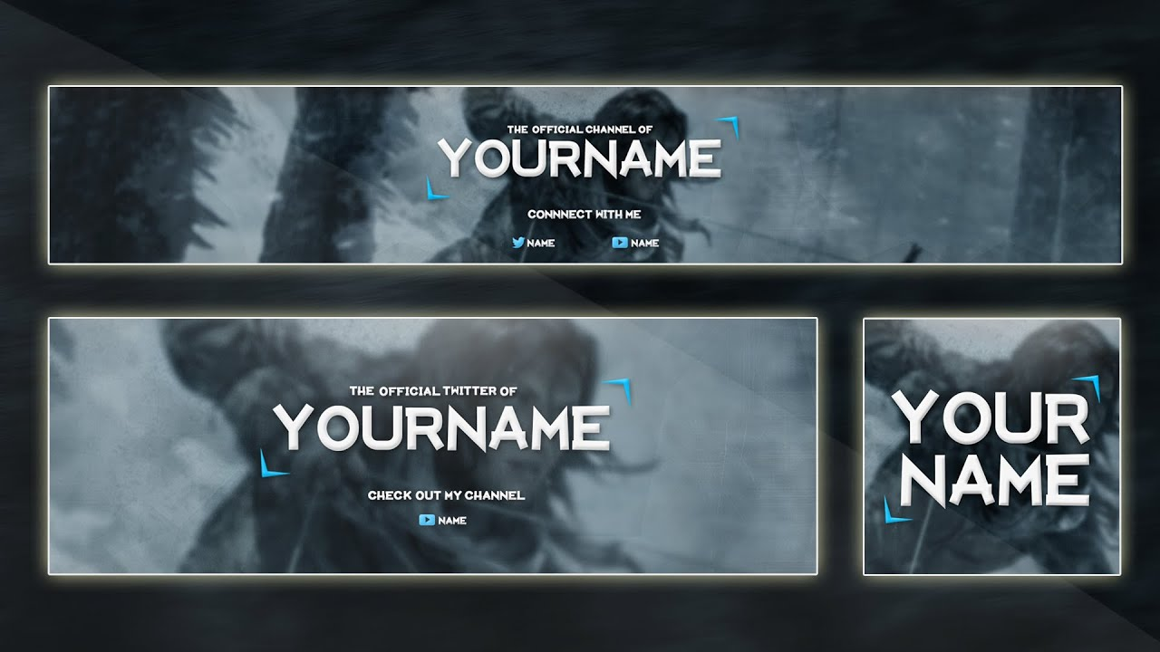 VIDEO GAME BANNER TEMPLATE 2015 | Custom Colors (PSD) - YouTube