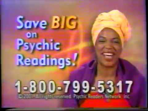 Miss Cleo Commercials From 2001 With Bonus Miss Clevon By Aisha