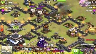 Ataque 3 estrelas - CV9 full - lllll - Kings Of War - Clash of Clans