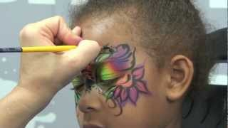 Face Painting Design: Wild Style Floral Mask Thumbnail