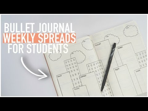 Bullet Journal WEEKLY SPREADS for STUDENTS | Page Ideas