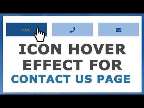 Cool Icon Hover Effect With Text For Contact Us Pages On Website | HTML CSS Effect