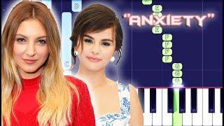 Julia Michaels - Anxiety ft. Selena Gomez Piano Tutorial EASY (Piano Cover)