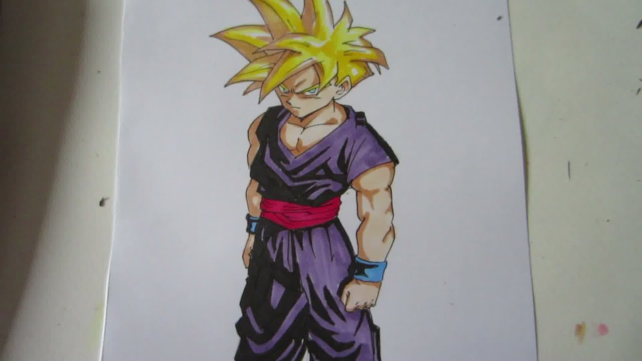 how to draw trunks super saiyan 2