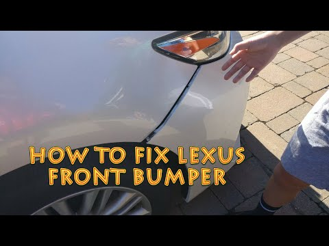 How To Fix Lexus ES Front Bumper [4K]