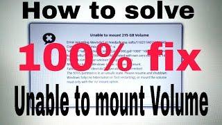 "solve NTFS mount problem on ubuntu, or unable to access ""drive "" ubuntu"