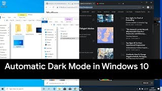 Get Automatic Dark Mode on Windows 10