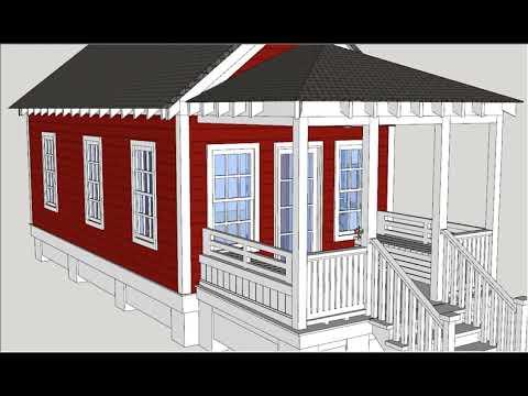 desain rumah panggung kayu minimalis banget - youtube
