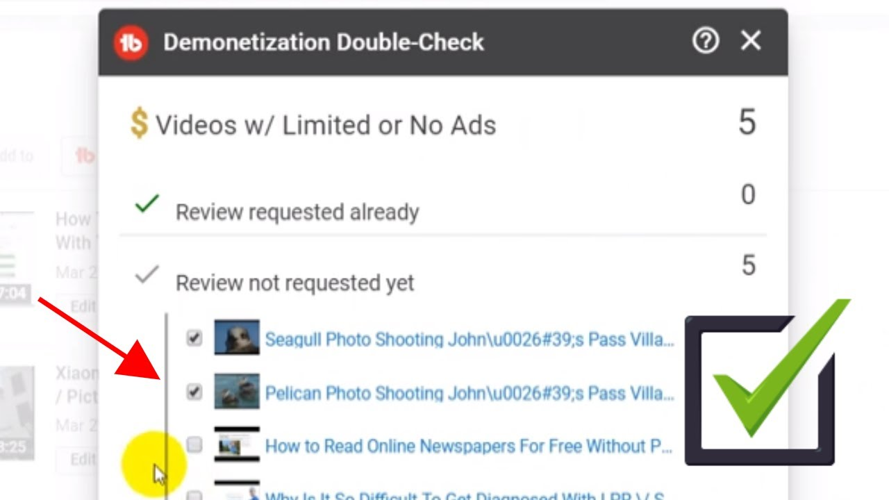 How To Check For Demonetized Videos On Your Youtube Channel And Request Review Youtube