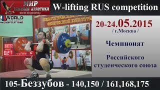 20-24.05.2015 (105-BEZZUBOV-140,150/161,168,175) Championship of Russia students