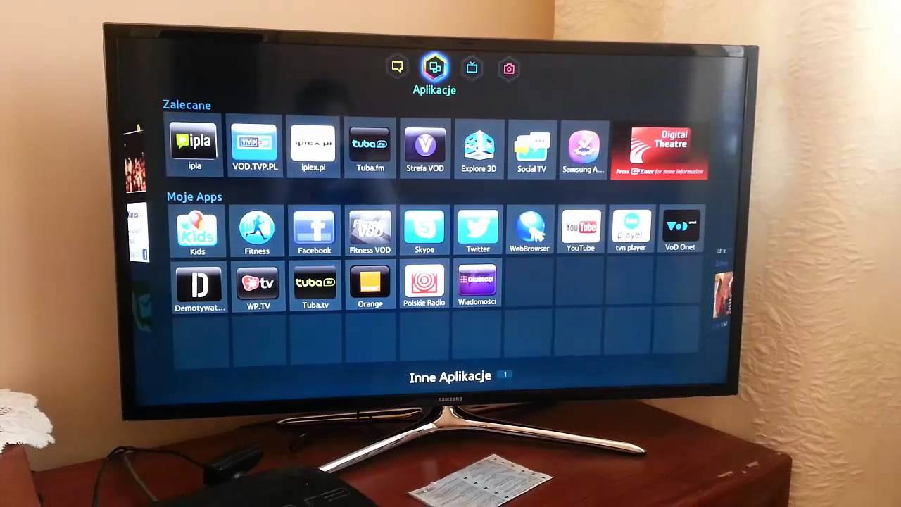 samsung ue40f6400aw smart tv pierwsze wra enia youtube. Black Bedroom Furniture Sets. Home Design Ideas