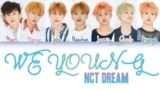 Nct dream (엔시티 드림) we young (ot7 ver.) lyrics color coded hangul english & rom colors: red - mark pink renjun green jeno blue haechan violet jaemin o...