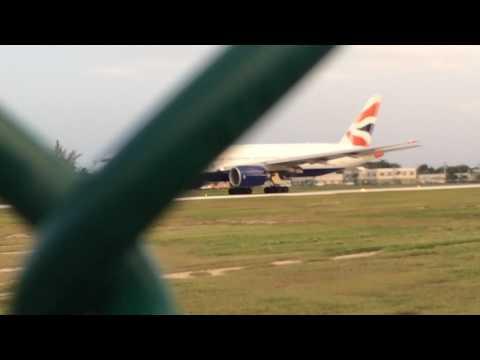 British airways 777-200 takeoff MWCR