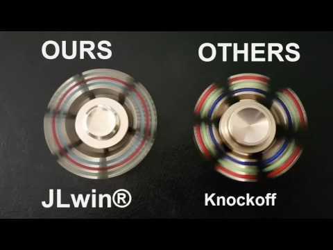 Fidget Spinner Brass JLwin 6 sided demonstration real VS knockoff