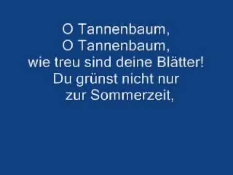 Oh Tannenbaum Oh.O Tannenbaum O Tannenbaum Lyrics Youtube Video