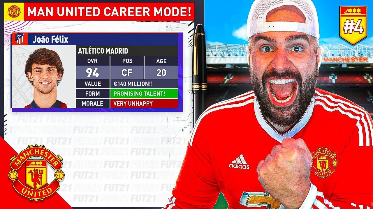 OMG!! JOAO FELIX AGREES MANCHESTER UNITED SIGNING!! FIFA 21 CAREER MODE #04
