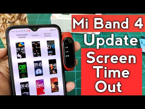 Mi Band 4 Big Update | Finally Screen Time Out | Screen Timer Enabled | Update Now