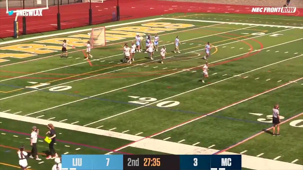 WLAX: Merrimack College Women's Lacrosse Highlights vs LIU (4-10-21)