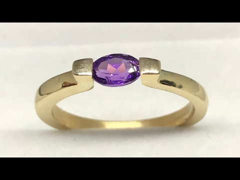 MAKING A GOLD TENSION RING