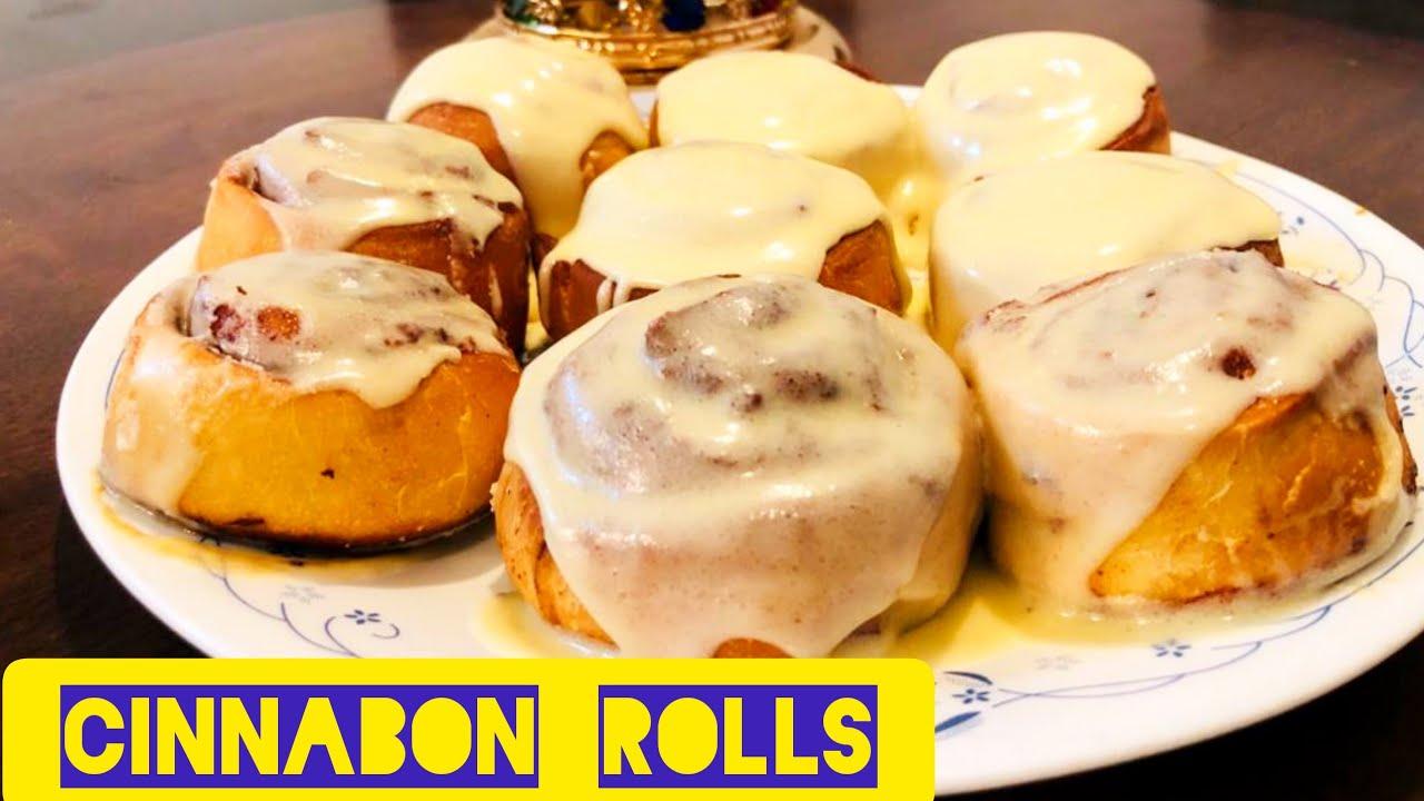 How to make homemade Cinnabon rolls/Soft Cinnabon rolls/Cinnamon rolls recipe/creamy Cinnabon rolls