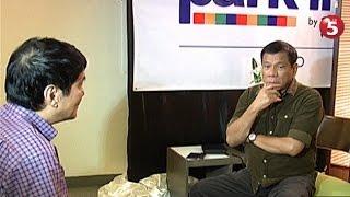 Exclusive | Duterte, sinigurong pananagutin ang mga rebeldeng gumagawa ng krimen