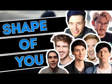 7 YOUTUBERS SING 1 SONG!! ED SHEERAN SHAPE OF YOU