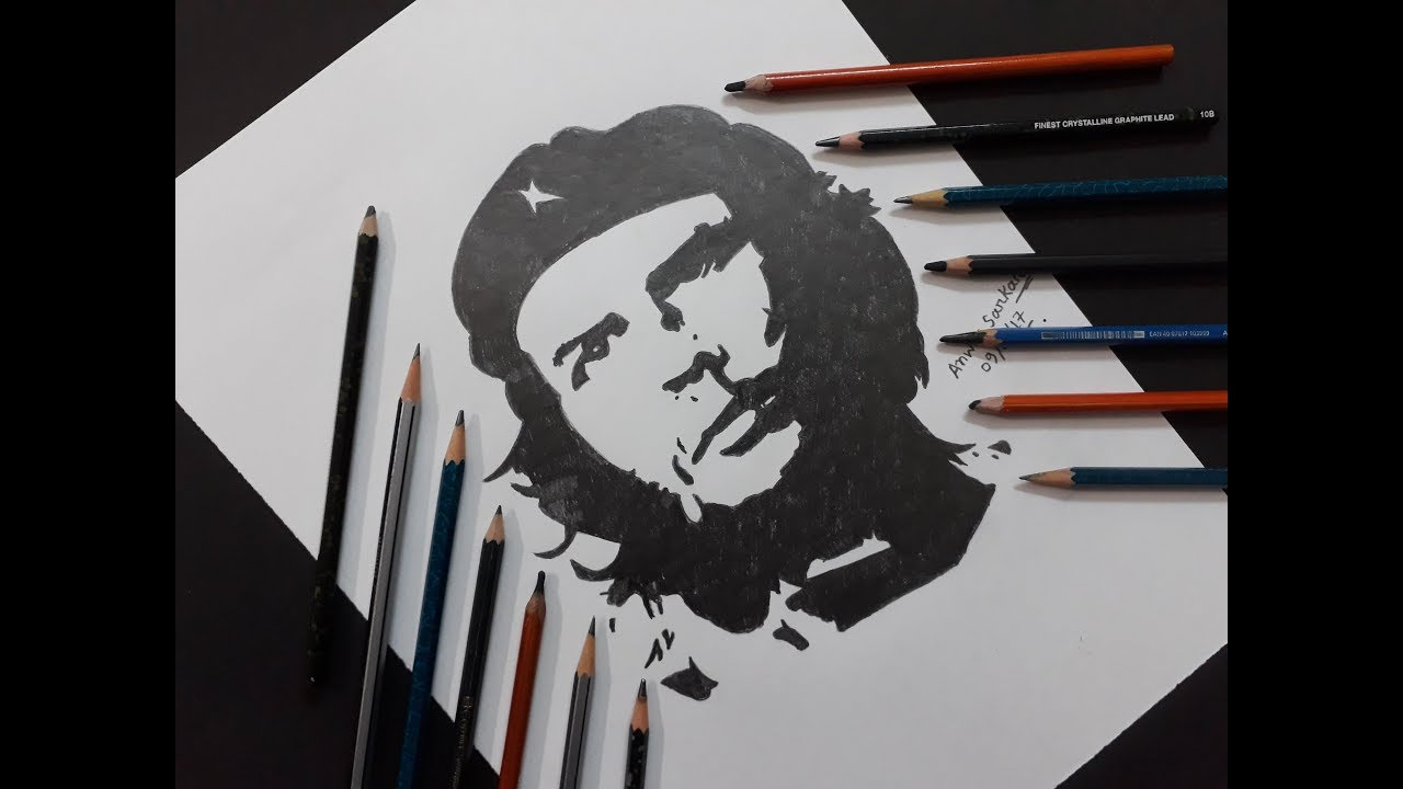 How to draw che guevara step by step
