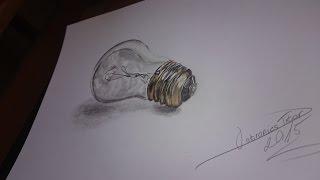 3D ENERGY SAVING BULB drawing! AZ ENERGIATAKARÉKOS ÉGŐ RAJZOLÁSA 3D!