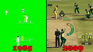 Cricket Video Games Evolution 1985-2018