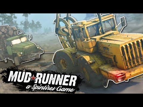 MULTIPLAYER LOG HAULING & WINCH PULLING! - Spintires: MudRunner Multiplayer Gameplay