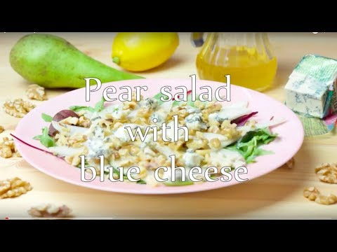 [No music] Pear salad with blue cheese