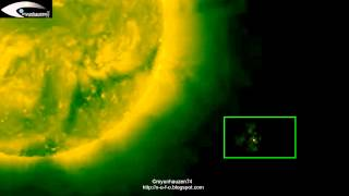 Images of UFOs, NASA sent a satellite SOHO - August 12, 2012.