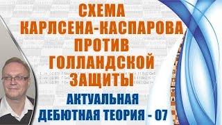 Схема Карлсена-Каспарова против Голландской защиты. Актуальная теория 07. Игорь Немцев, шахматы