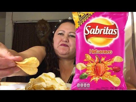 El reto de las Sabritas Picantes (Habanero) - YouTube