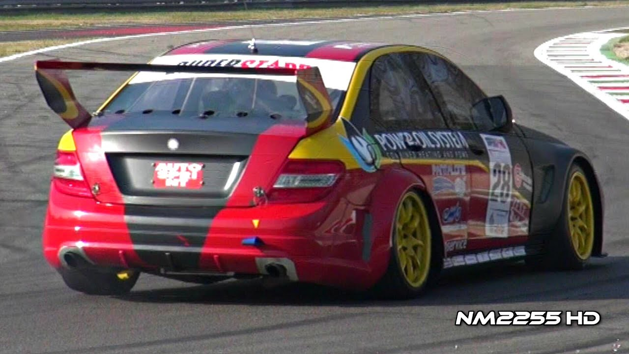 Mercedes c63 amg race car brutal sound youtube for Mercedes benz race