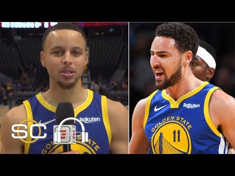 Steph Curry jokes that Klay Thompson is auditioning for the NBA Slam Dunk Contest | SC with SVP thumbnail