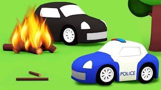 Мультики для детей 4 машинки и пожар в лесу Сборник мультфильмов для малышей