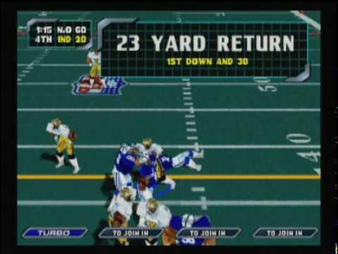 NFL Blitz 2000 - Saints vs Colts (Second Half)