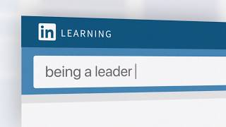 Being a leader   LinkedIn Learning
