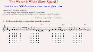 The water is wide for tin whistle with chords (slow version) by Ian Buxton