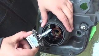 HID PHILIPS X-TremeVision D3S Install Lincoln Navigator 2007-2012 Bulb replacement