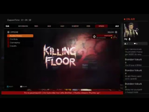 Killing Floor 2  LIVE  PS4  Stream With Grant clan and Molly