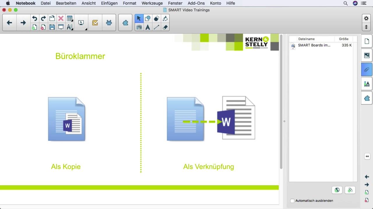 Anhange In Der Smart Notebook Software Youtube