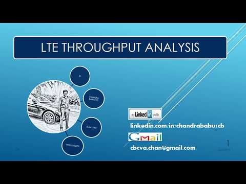 4G or LTE THROUGHPUT ANALYSIS BY CB
