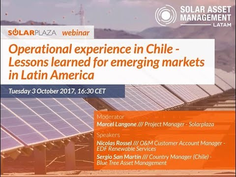 Solarplaza Webinar: Lessons learned from operational experience in Chile