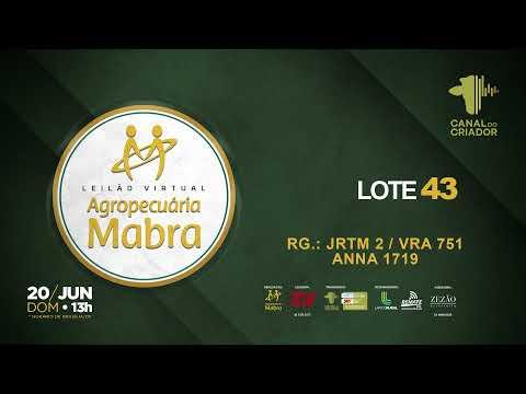 LOTE 43  JRTM 2   VRA751  ANNA1719