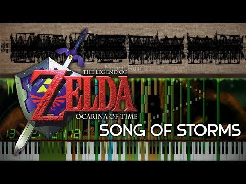 The Legend of Zelda ~ Song of Storms w/ 42,000+ Notes (Black MIDI)